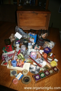 Contents of Candle Drawer