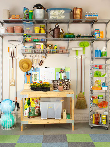 Plan drawing potting shed organizing ideas for Garden shed organization ideas