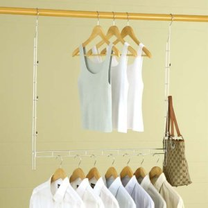 Double your closet hanging space!